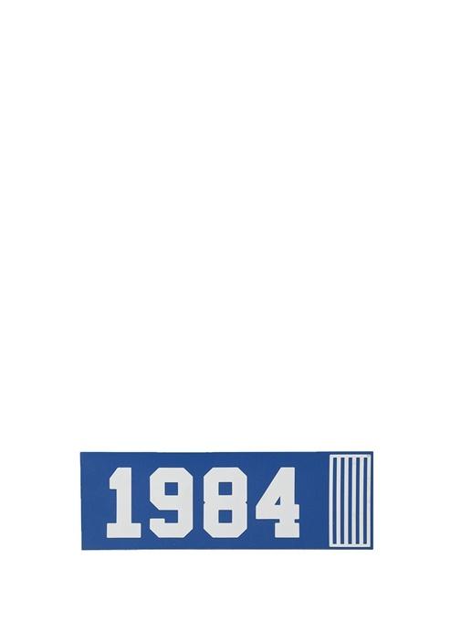Lacivert Dikdörtgen Formlu Sayı Baskılı Sticker