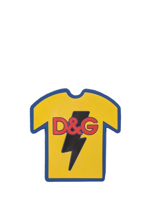 Sarı T-shirt Formlu Logolu Sticker