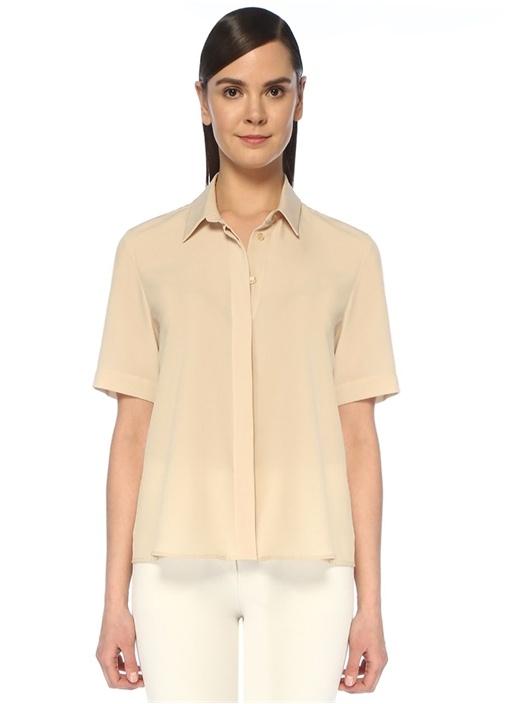 Bej İngiliz Yaka Gömlek
