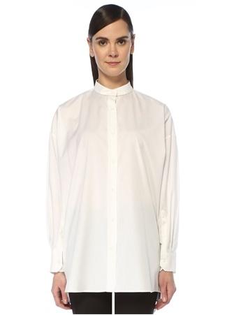 Beymen Collection Kadın Beyaz Hakim Yaka Zincir Şerit Detaylı Tunik 48 female