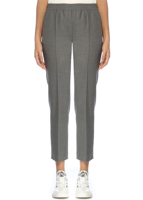 Gri Yün Pijama Pantolon