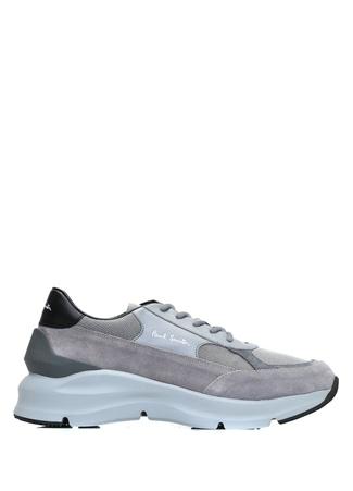 Paul Smith Erkek Gri Logolu File Garnili Deri Sneaker 7 UK male