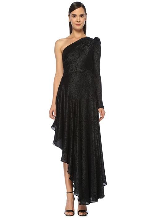Amur Siyah Kadin Esmeralda Siyah Asimetrik Maksi Abiye Elbise 676213 Beymen