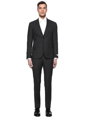 Beymen Collection Erkek Drop 7 Antrasit Yün Takım Elbise Gri 54 IT male