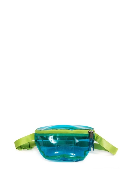 Springer Mavi Logolu Kadın Transparan Bel Çantası