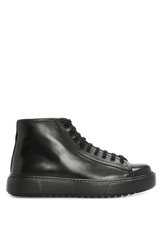Academia Erkek Siyah Deri Sneaker 42 male