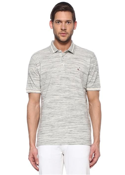Comfort Fit Gri Polo Yaka T-shirt