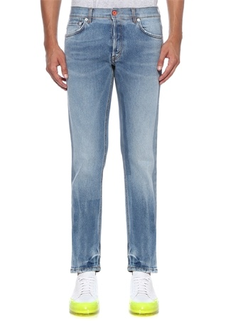 Slim Fit Mavi Normal Bel Jean Pantolon