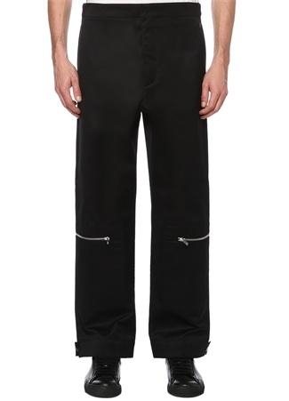 Siyah Yüksek Bel Bol Paça Pantolon