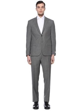 Beymen Collection Erkek Drop 7 Gri Kelebek Yaka Yün Soft Takım Elbise 56 IT male