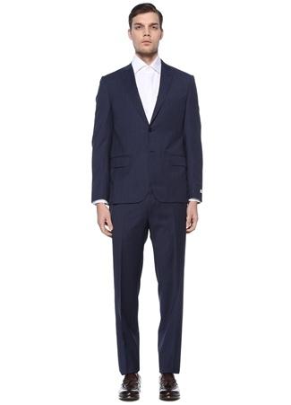 Beymen Collection Erkek Drop 8 Lacivert Kırlangıç Yaka Yün Takım Elbise Mavi 48 IT male