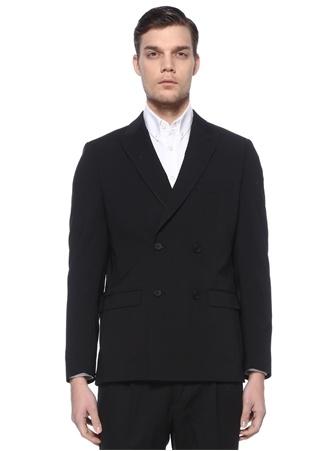 Academia Erkek Siyah Kırlangıç Yaka Kruvaze Blazer Ceket 46 IT male