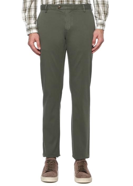 Regular Fit Haki Normal Bel Chino Pantolon