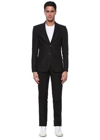 Beymen Club Erkek Drop 8 Siyah Kelebek Yaka Keten Takım Elbise 58 male