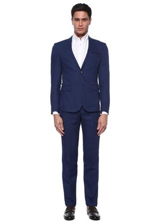 Beymen Club Erkek Drop 6 Lacivert Kelebek Yaka Dokulu Takım Elbise Mavi 50 male
