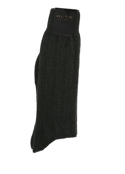 Haki Ribli Erkek Yün Çorap