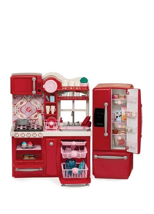Kırmızı Oyuncak Mutfak Seti