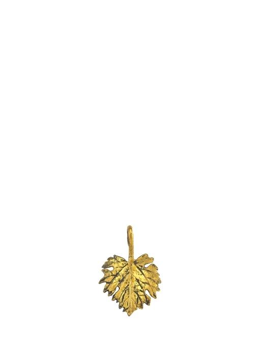 Charm Gümüş ve Altın Varaklı Kolye Ucu