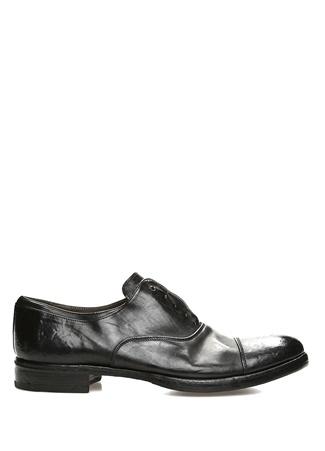 Premiata st Erkek Siyah Dikiş Detaylı Deri Ayakkabı 44 EU 1st male