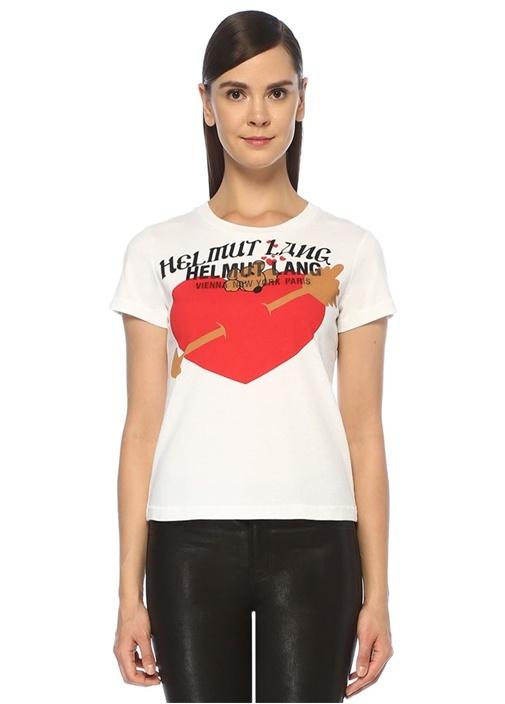 PZ Valentine Beyaz Baskılı T-shirt