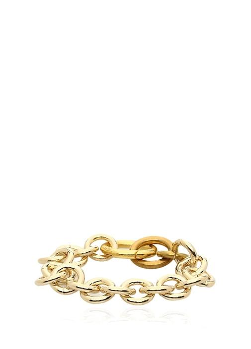 Fede Gold Kalın Zincirli Kadın Bileklik