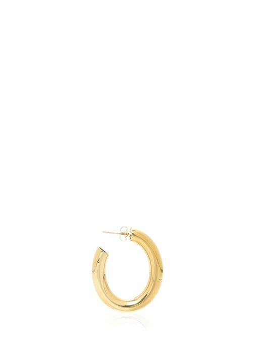 Mini Gold Geometrik Formlu Kadın Küpe