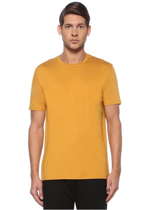 Hardal Bisiklet Yaka Basic Jersey T-shirt