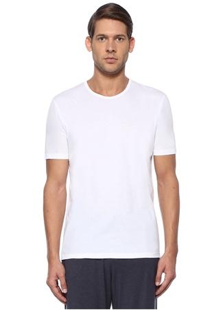 Derek Rose Erkek Beyaz Bisiklet Yaka Basic Jersey T-shirt S EU male