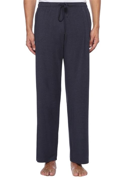 Lacivert Beli Kordonlu Jersey Pijama Altı