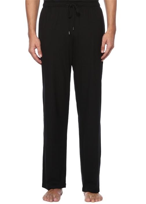 Siyah Beli Kordonlu Boru Paça Pijama Altı