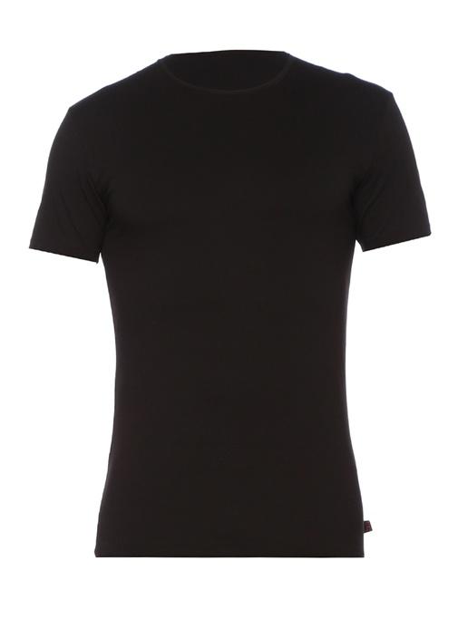 Jack Siyah Bisiklet Yaka T-shirt
