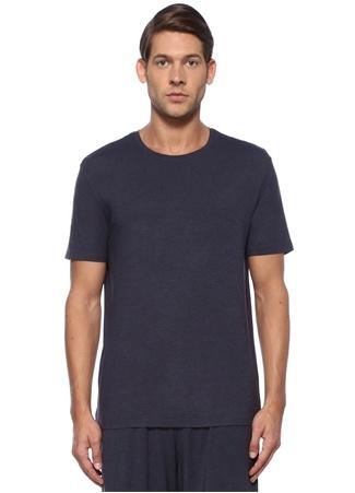 Lacivert Bisiklet Yaka Basic Jersey T-shirt