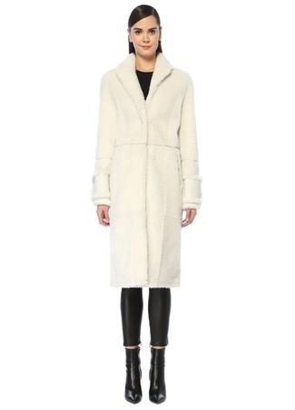 Lol Kadın Rebecca Beyaz Shearling Palto 36 EU