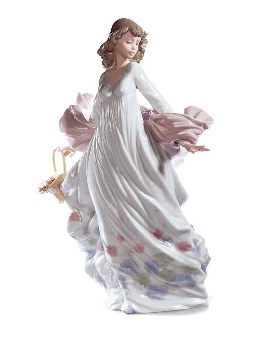 Bahar İhtişamı Kadın Formlu Porselen Obje