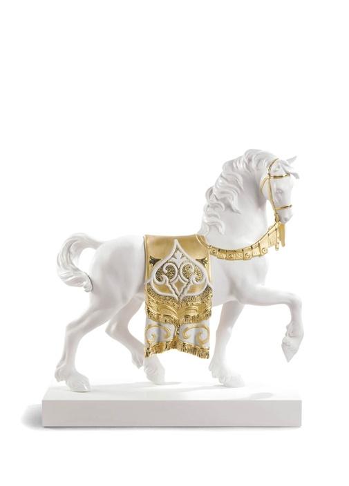 Beyaz At Formlu Re Deco Porselen Dekoratif Obje