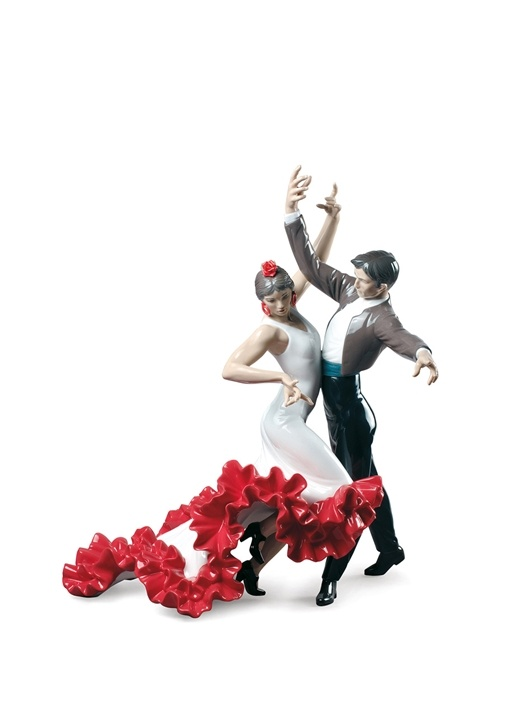 Flamenko Dansçı Formlu Porselen Dekoratif Obje