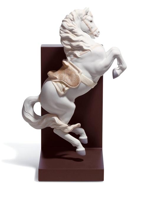 Beyaz At Formlu Courbette Porselen Dekoratif Obje