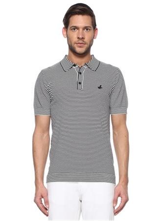 Beymen Club Erkek Lacivert Beyaz Polo Yaka Çizgili T-shirt XS male
