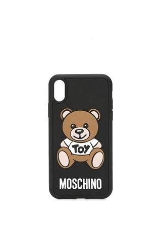 Moschino Kadın Siyah Ayıcık Kabartmalı iPhone XR Telefon Kılıfı EU female Standart
