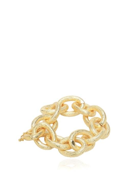 Gold Zincir Formlu Kadın Bilezik