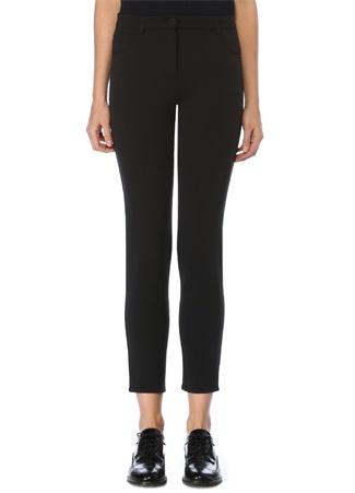 Siyah Normal Bel Dar Paça Pantolon