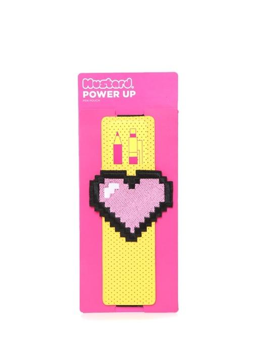 Power Up Sarı Puantiyeli Kalemlik