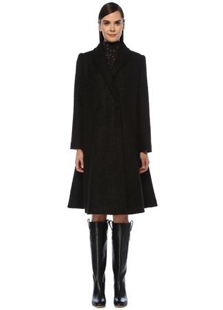 Faraway Kadın Bea Siyah Şal Yaka Kruvaze Palto XS/S EU