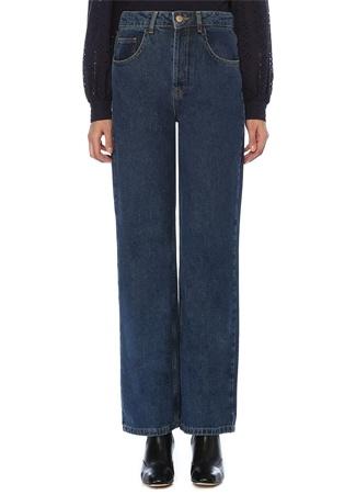 Faraway Kadın Josie Yüksek Bel Wide Leg Jean Pantolon Mavi 34 EU