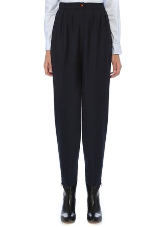 Jodi Lacivert Yüksek Bel Pilili Pantolon