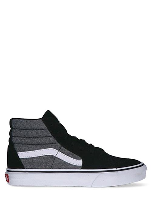 SK8 Hi Siyah Gri Unisex Çocuk Süet Sneaker
