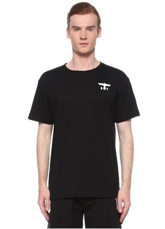 Boy London Erkek Siyah Beyaz Logo Baskılı T-shirt XS EU male