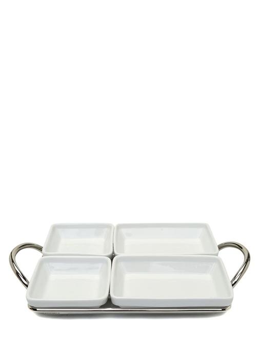 Binario 4 Bölmeli Porselen Kahvaltı Seti