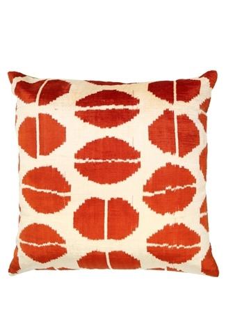 Beymen Home Kırmızı Desenli 50x50 cm İpek DekoratifYastık Çok Renkli Standart