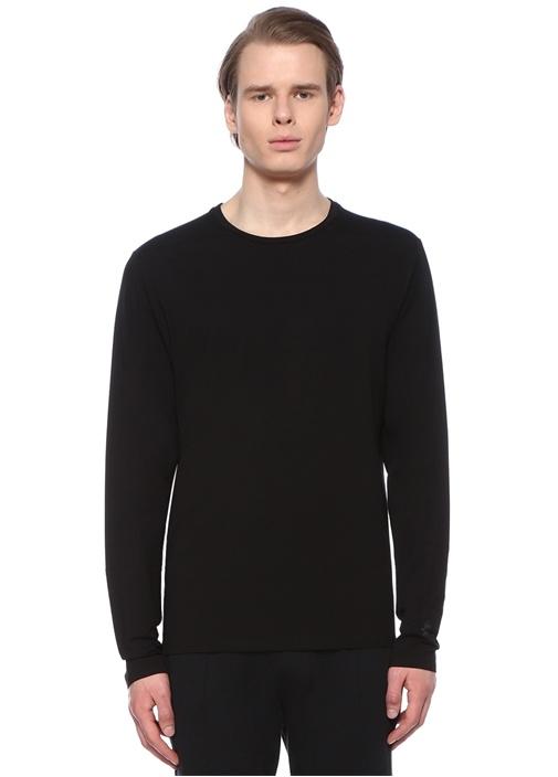 Siyah Uzun Kollu Basic T-shirt